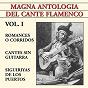Compilation Magna antología del cante flamenco vol. I avec Agujetas el Viejo / El Negro / Dolores la del Cepillo / Popular / Alonso el del Cepillo...