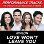 Album Love won't leave you (performance tracks) - ep de Avalon